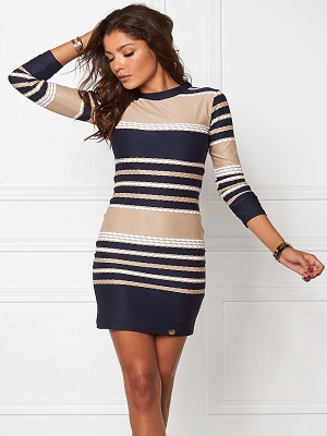 Marine Bodycon Dress - Cocktailklänning.se